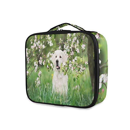 Mnsruu Sac de rangement portable avec séparateurs réglables Motif chien Golden Retriever