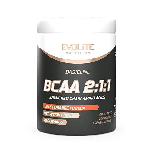 Evolite Nutrition BCAA 2:1:1 400 g - Crazy Orange