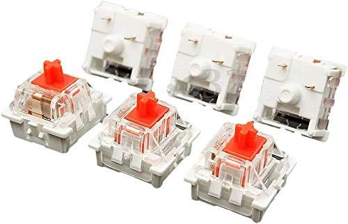 Hinleise Eje de teclado de plástico para interruptor mecánico MX RGB de 3 pines rojo cereza (10 unidades)