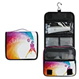 TropicalLife CFAUIRY Hanging Travel Toiletry Bag Colorful Abstract Volleyball Portable Makeup Organizer Large Cosmetic Bag Toiletry Kit