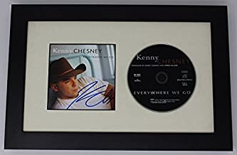 Kenny Chesney Everywhere We Go Authentic Signed Autographed Music Cd Cover Compact Disc Framed Display Loa
