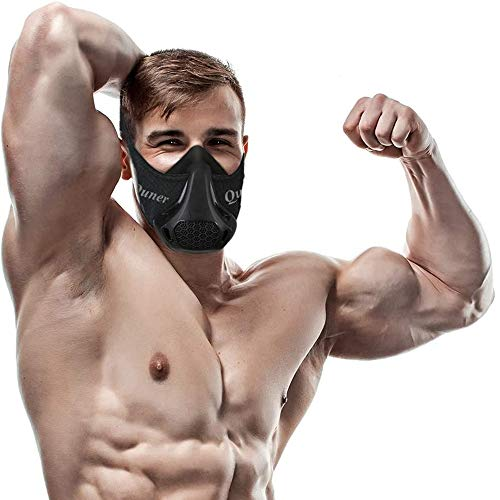 QISE Training Mask Resistance Breathing Oxygen Sport Fitness Mask 24 Breathing Resistance Levels and Imitate Workout at High Altitudes for Running Biking Fitness Jogging Climbing Cardio Exercise