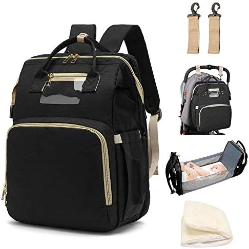 LBW Diaper Backpack with Folding Crib Bassinet Large Capacity Bag for Baby Travelling Includes product image