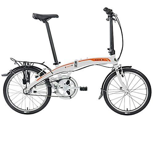 Dahon Faltrad CURVE i3 3 Gang ND Weiß 20 Zoll Klapp Fahrrad Faltrahmen Aluminium Faltbar Uni, 916745