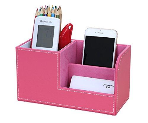 KINGFOM Multifunzionale Organizador de escritorio/Portal¨¢pices de piel/Sistema de Escritorio/Organizador de Oficina/Organizador de papeler¨ªa