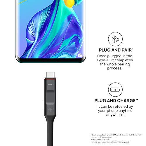 Huawei FreeLace ultraleichtes Bluetooth Headset 'CM70-C' mit HiPair, Schwarz - 3