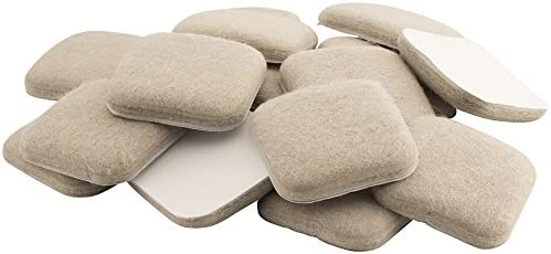 SoftTouch 4715495N Extended Wear Felt Furniture Pads for Hard and Uneven Surfaces 1 Inch Linen product image