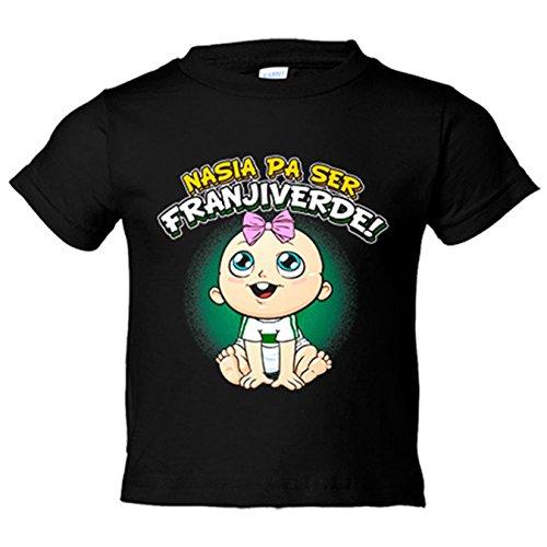 Camiseta niño nacida para ser Franjiverde Elche fútbol - Negro, 18-24 meses