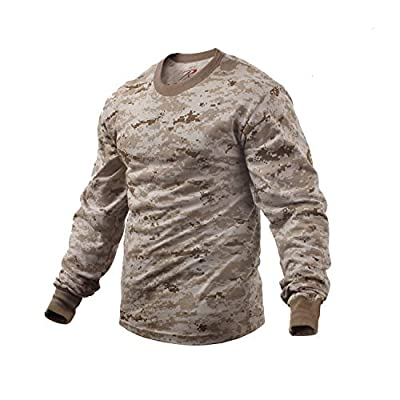 Rothco Long Sleeve Camo T-Shirt, Desert Digital Camo, 3XL