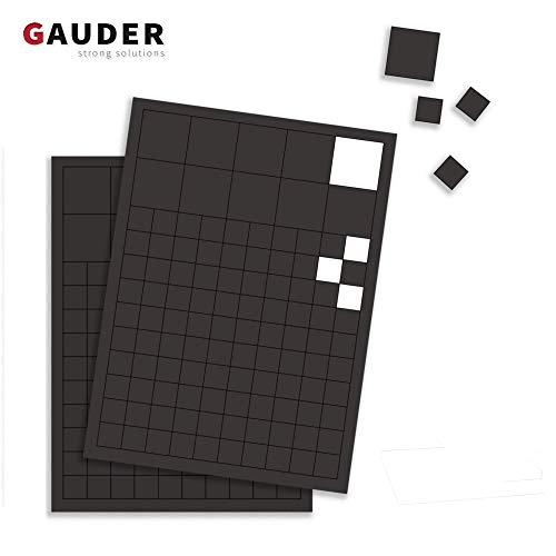 GAUDER 220x Magnetplättchen selbstklebend | Magnetstreifen | Magnet-Plättchen für Fotos, Postkarten & Schilder