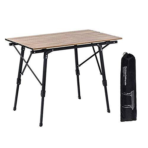 N/Z Tägliche Ausrüstung Leichter Klappstuhl Klapptisch aus Aluminiumlegierung Tragbarer Outdoor-Camping-Grill-Picknick-Autotisch im Freien