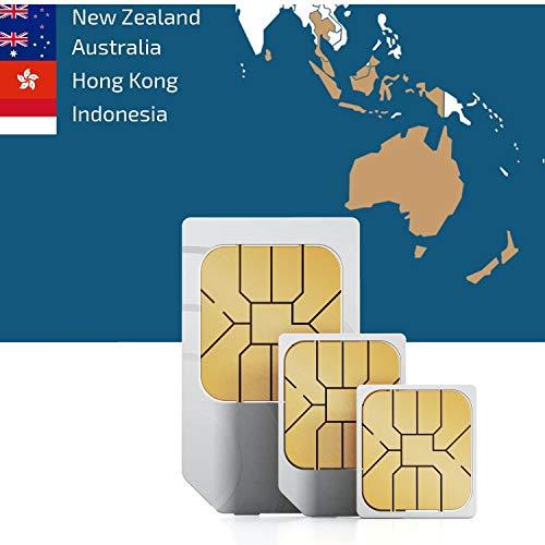 Carte SIM prépayée Asie du Sud-Est et de l'océan 3 Go avec internet mobile de 30 jours
