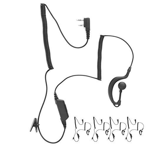 SALUTUYA Black Earphone for Baofeng Walkie Talkie Earpiece,for Military