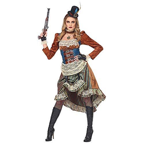 Widmann Srl-GRP08071VD - Disfraz Steampunk de mujer para adultos, multicolor, grande, GRP08071VD