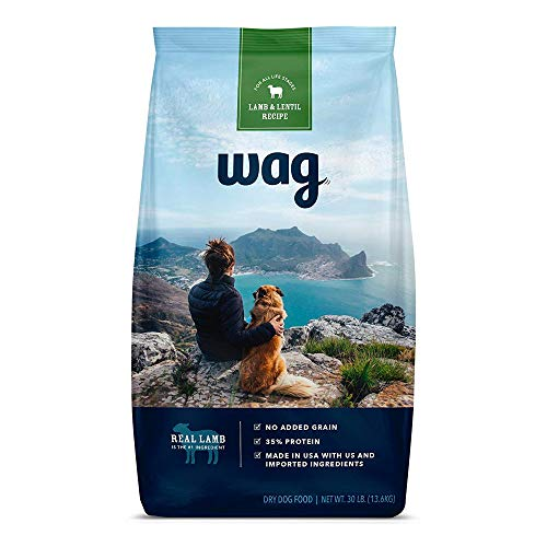 Amazon Brand - Wag Dry Dog Food Lamb & Lentil Recipe (30 lb. Bag)