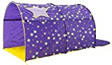 Alvantor Starlight Bed Canopy Dream Kids Play Tents Playhouse Privacy Space Twin Sleeping Indoor Grow in The Dark Stars Boys Girls Toddlers Pop Up Portable Frame Curtains Purple, Patent