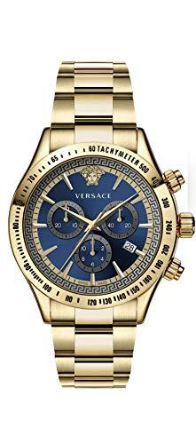 Versace Herren Analog Quarz Uhr mit Edelstahl Armband VEV7006 19