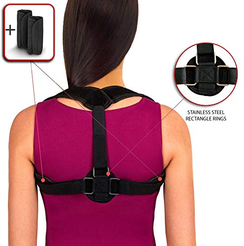 BV Cervical Neck Traction Device Effective and Fast Relief Neck Pain Inflatable Neck Stretcher Collar Device || Extra Bonus Pump (Blue)