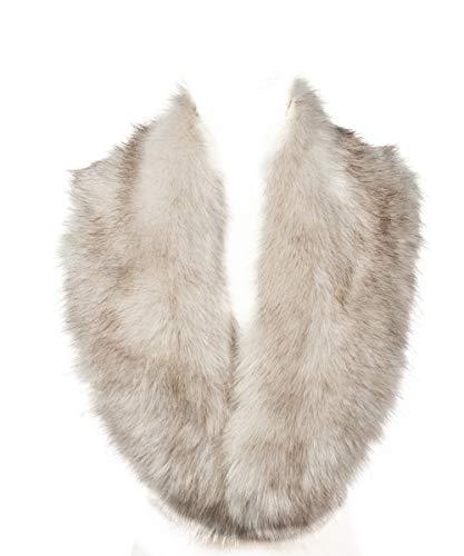 Saferin Chaqueta cuello abrigo bufanda de las mujeres cuello calentador para el abrigo de invierno para fiesta de boda (Beige 1)