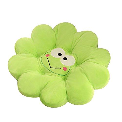 Grüne Karikatur Baumwolltier-Blumen-Hauptkissen-Frosch-netter Auflage-angefüllter Plüsch-Dekor der bequemen Sitzkissen (Grün)