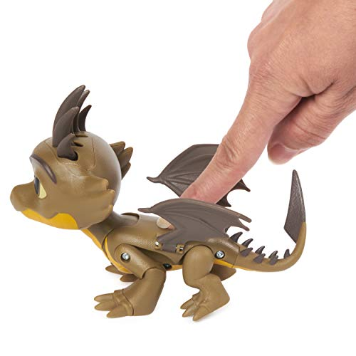 HTTYD DreamWorks Dragons Rescue Riders Tan Brown Yellow Cutter Flying Action Spikes Tail Wings Figure Toy