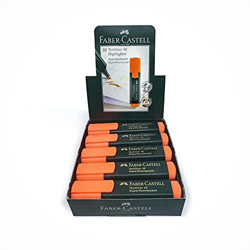 Faber-Castell F114815 Subrayador Fluorescente, color Naranja - 10 unidades