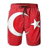 FAVIBES Türkei Flagge schnell trocknend elastische Spitze Boardshorts Strand Shorts Hosen Badehose...