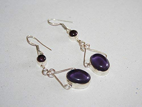 Amethyst Stone Indian Super sale Traditional Eth Earrings- Fees free