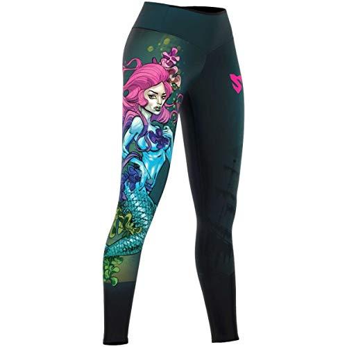 SMMASH Mermaid Deportivos Leggins largos Mujer con cintura alta y Push UP, Perfecto para Yoga, Fitness, Crossfit, Correr, Material Transpirable y Antibacteriano, fabricada en la UE (S)