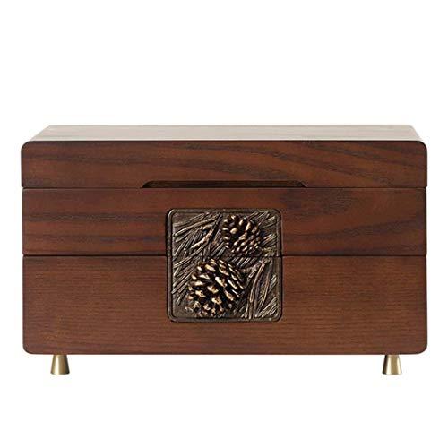 NANI Gioielli Organizzatore, regalo d'epoca for le donne, monili di legno Orecchio bagagli vite prigioniera degli orecchini della collana di stoccaggio scatola di cerimonia nuziale del regalo di compl