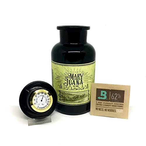 Glas zur Aufbewahrung von Cannabis/Weed - Mary Purple 500ml