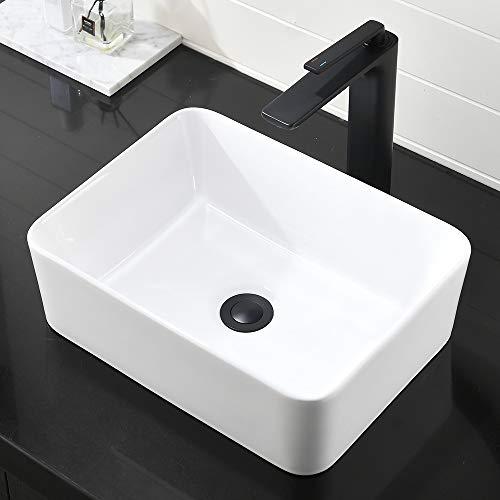 GOTOTOP Vessel Sink,11.8 River Stone Wash Basin Sink Oval Bathroom Vessel Sink Above Counter Oval Washbowl Bathroom Lavatory Hotel Bowl Basin