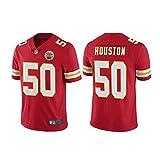 LAVATA T-Shirt Manches Courtes Homme Uniforme De Football Kansas City Chiefs 50# Justin Houston Maillots De Rugby T-Shirts