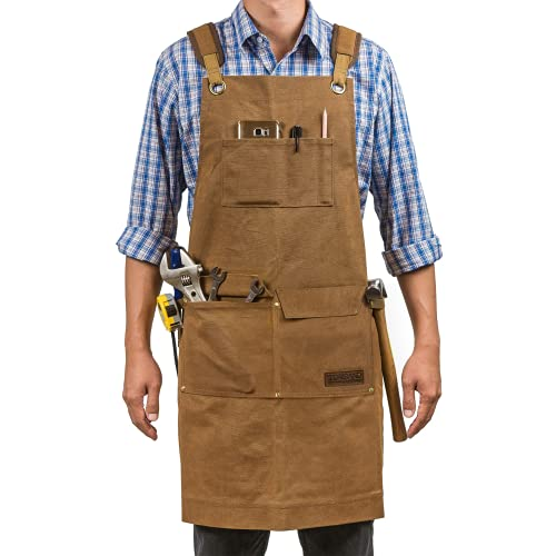 Woodworking Shop Aprons for Men and Women | 16 oz...