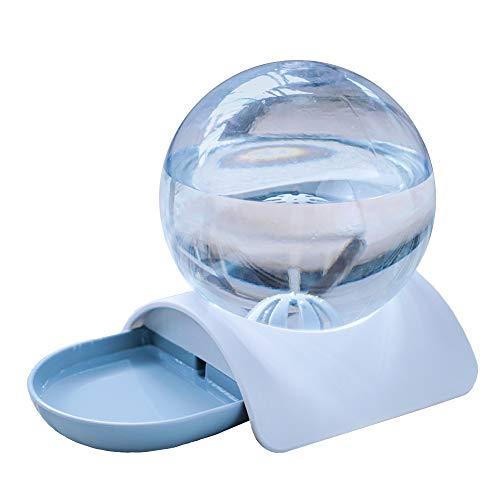 猫 給水器 自動給水器 鳥 小動物用 犬用 水飲み器 水量見え 猫用 ペット給水器 衛生 健康 お留守番対応 給水タンク 球形の自動猫水噴水2.8L電気無し