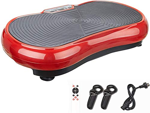 ZELUS Full Body Vibration Platform Exercise Machine, Red Crazy Fit Fitness Vibrating Machine