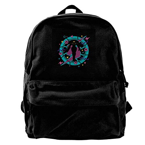 maichengxuan Canvas Backpack Metroid 90s Samus Aran Rucksack Gym Hiking Laptop Shoulder Bag Daypack for Men Women