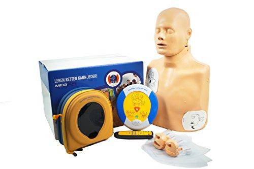 MedX5 HLW-D Trainingsset mit Übungspuppe- und Trainingsdefibrillator PAD 350P Trainer im Komplettset