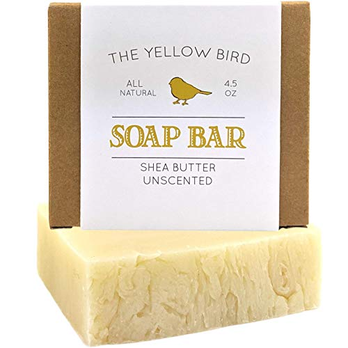 Fragrance Free Soap for Sensitive Skin. Hypoallergenic Soap Bar. Natural, Unscented, Organic Ingredients. Moisturizing Shea Butter Soap. Vegan, Artisan, Handmade Soap.