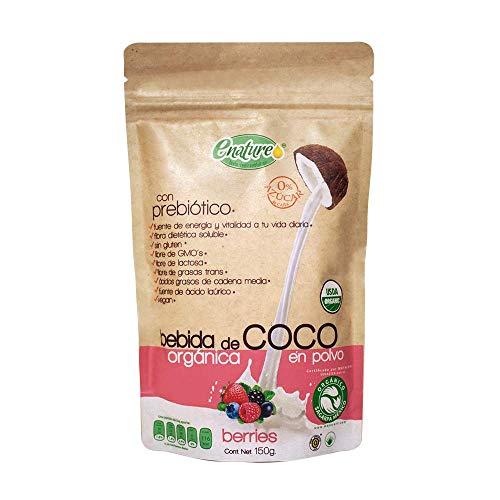 Enature Bebida de Coco Orgánica, Berries, 150 g