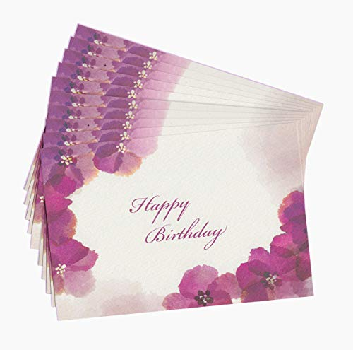まとめ売り10枚セット バースデーカード ・花・FLOWER メッセージカード