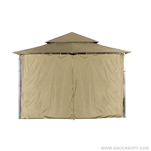 ABCCANOPY L-GZ136PST Gazebo Replacement Privacy Wall for 10'x10' Gazebo (Beige)
