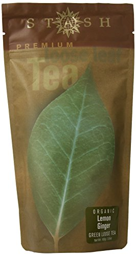 Stash Tea Organic Lemon Ginger Green Loose Leaf Tea 3.5 Ounce Pouch Loose Leaf Premium Green Tea for Use with Tea Infusers Tea Strainers or Teapots, Drink Hot or Iced, Sweetened or Plain