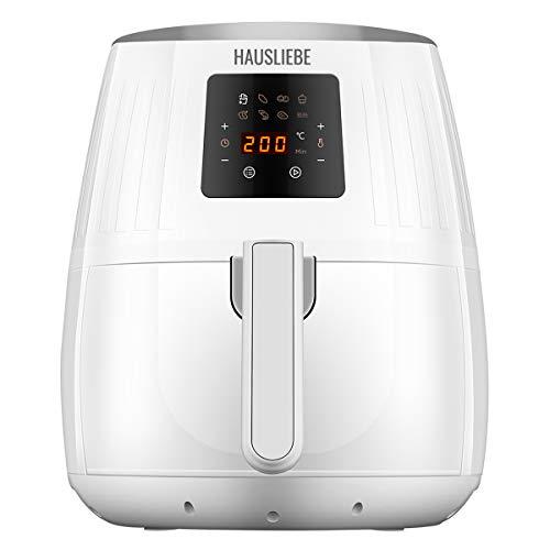 Hausliebe LF1 Airfryer - Freidora de aire caliente (1500 W, pantalla digital, sin aceite, fácil de usar y limpiar, para 2 o 3 personas, 3,5 litros), color blanco