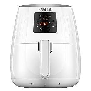 HAUSLIEBE LF1 Airfryer - Freidora de aire caliente (1500 W, pantalla digital, sin aceite, fácil de usar y limpiar, para 2-3 personas, 3,5 litros), color blanco