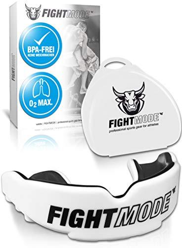 Profi Sport Mundschutz (2020) - Verbesserte Luftkanäle für mehr Kondition - Komfort und sicherer Halt im Kampfsport, Boxen, MMA, Kickboxen, American Football, Hockey - für Erwachsene, Kinder - White