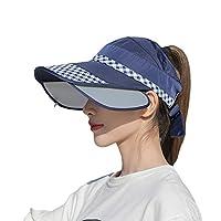 サンバイザー レディース 日よけ帽子 ハット フリーサイズ 視界良好 多機能 小顔効果抜群 サイドバイザー付き ブリム伸縮可能 化粧崩れ防止 吸汗通気 つば広広幅調節可 きれいめ ファッション 通勤
