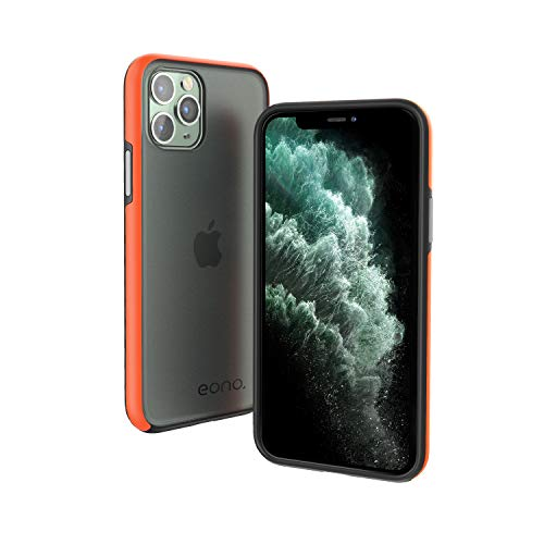 "Amazon Brand – Eono Funda para iPhone 11 Pro MAX (6.5""), Anti-Choques y Anti-Arañazos Carcasa, Híbrida TPU + PC Moda Teléfonos Case, Translúcido Cubierta para Apple iPhone 11 Pro MAX - Mate Negro"