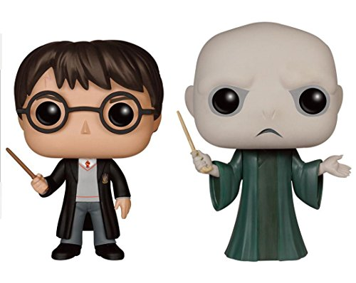 Funko POP! Harry Potter: Harry Potter con el uniforme de Hogwarts + Voldemort