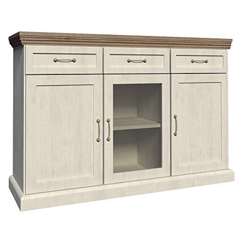 Furniture24 Kommode ROYAL K1S, Wohnzimmerschrank, Sideboard mit 3 Türen